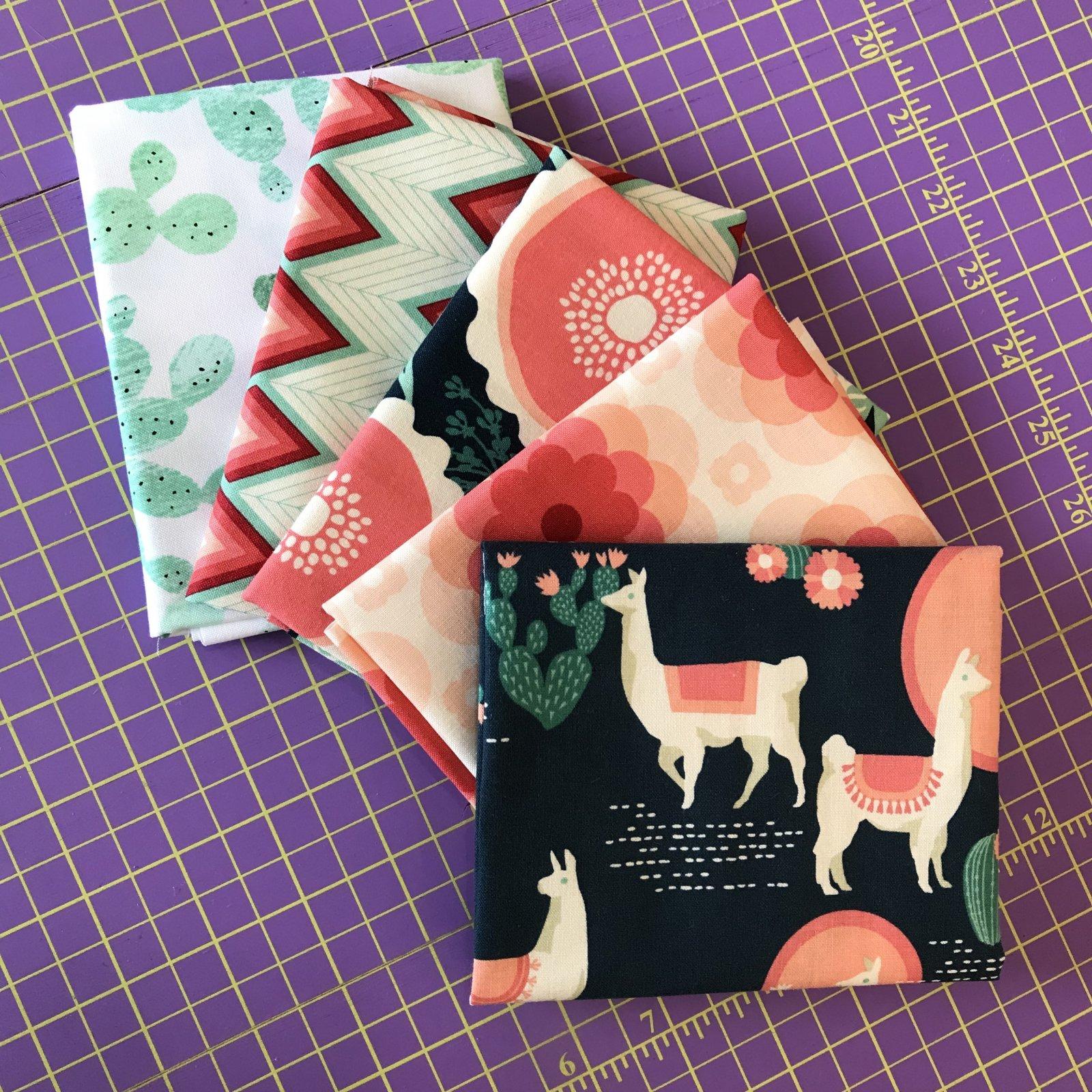 Llamas & Cacti Bundle - 5 FQ's