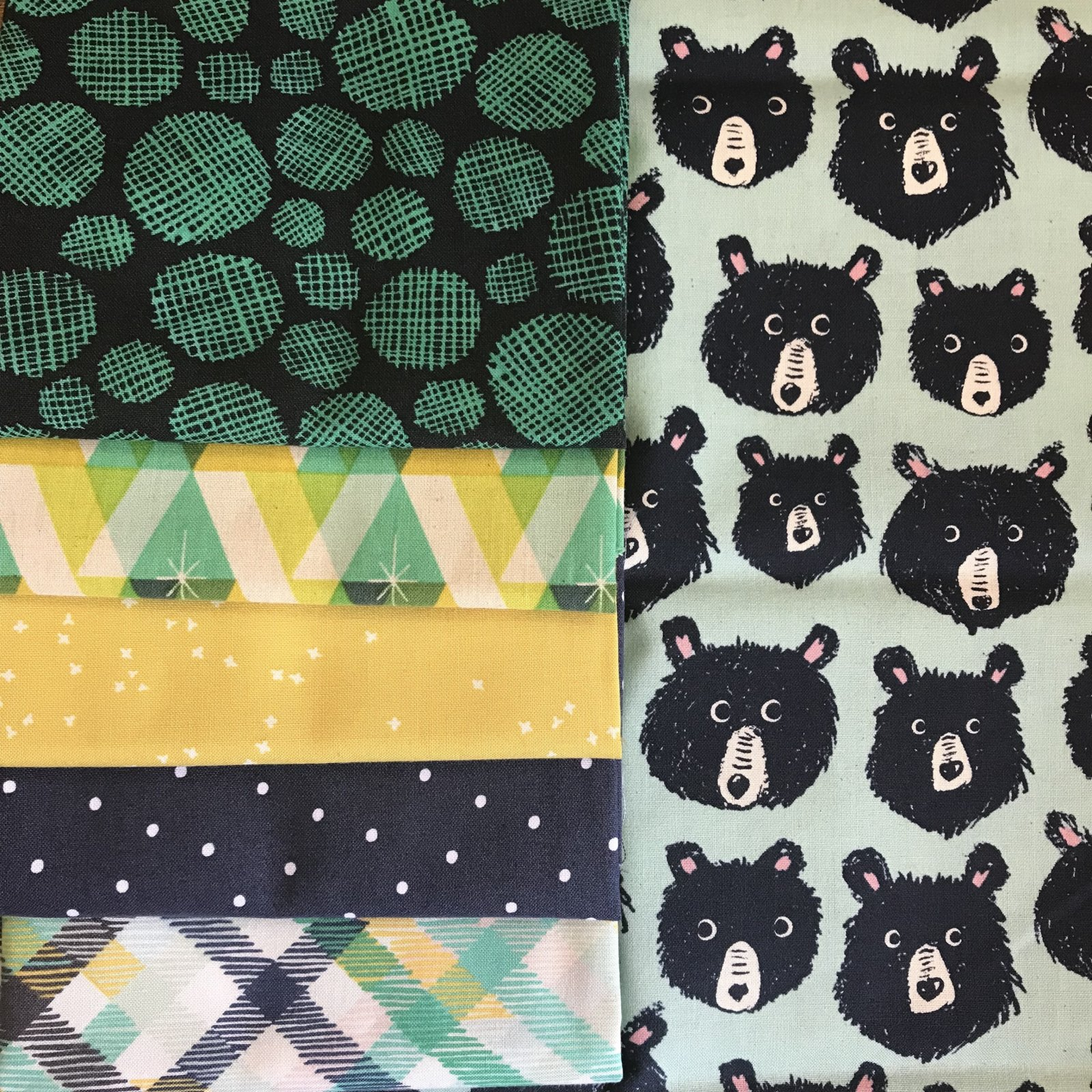 Beary Bunch FQ Bundle - 6 Pieces