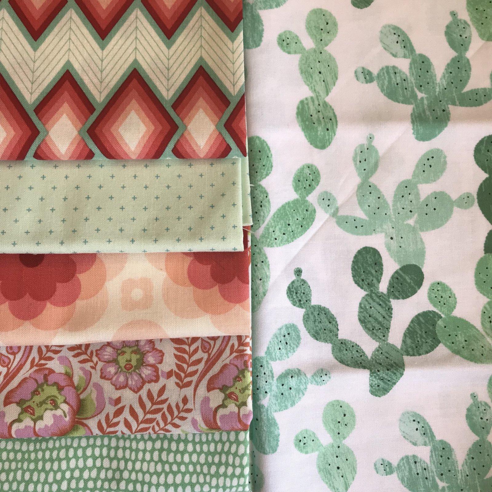 Coral Cacti FQ Bundle - 6 Pieces
