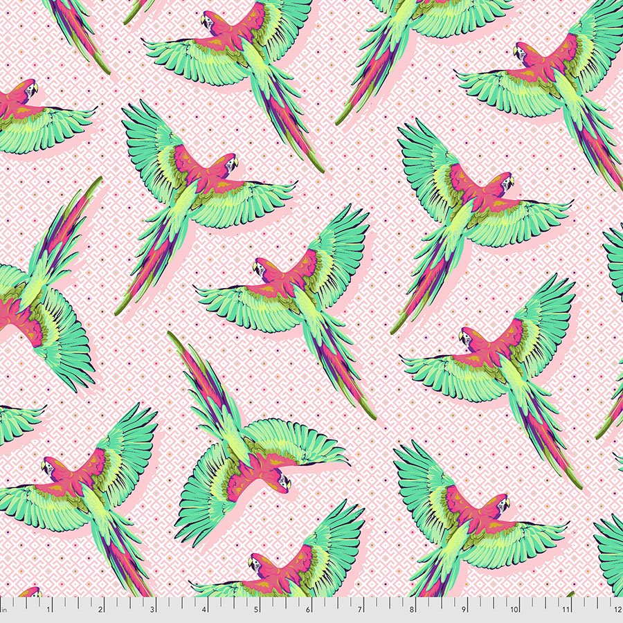 PREORDER | Daydreamer | Macaw Ya Later - Dragonfruit | Tula Pink | PWTP170.DRAGONFRUIT