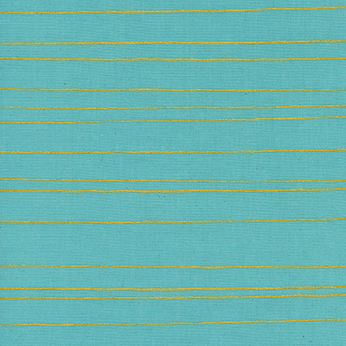 Gold Stripe in Aqua - FQ