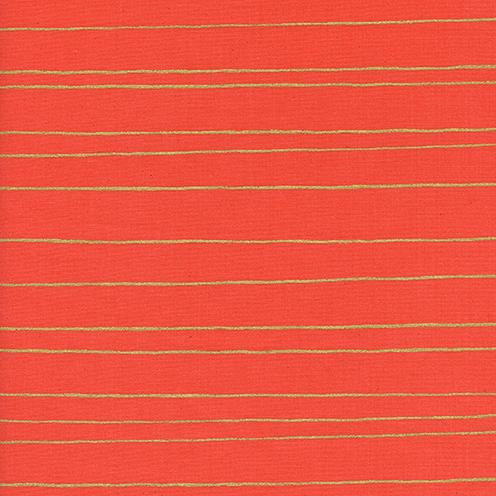 Gold Stripe in Red - FQ