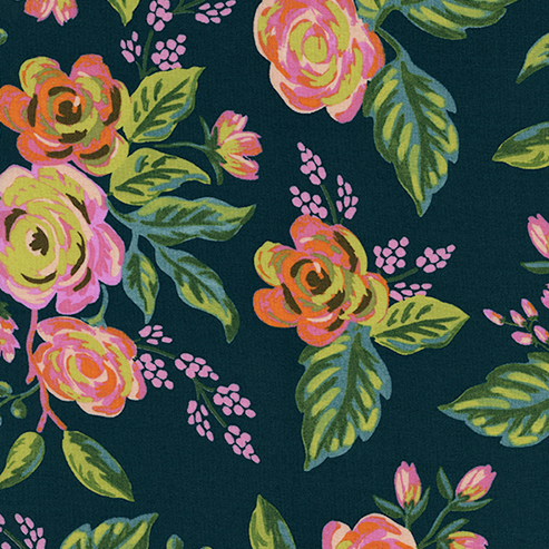 Jardin De Paris Rayon in Navy