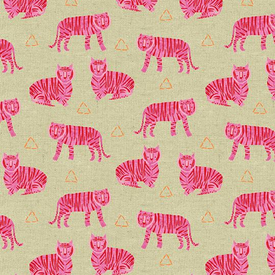 Fuschia Tigers on Tailored Cloth