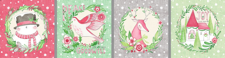 Merry & Bright Holiday Wishes 12 Panel