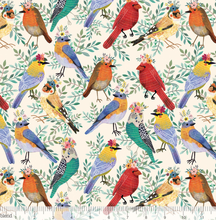 Birdie Bird Meet in Ivory