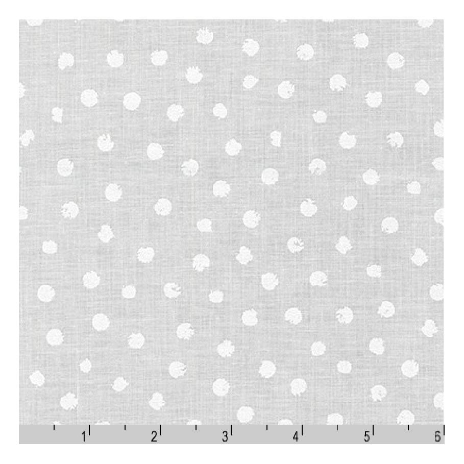 Mini Madness | Scribble Dots in White - FQ