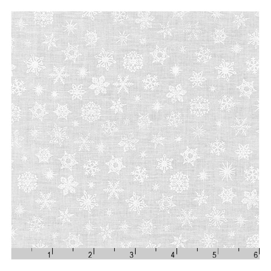 Mini Madness | Snowflakes in White