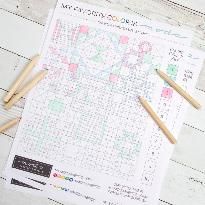My Favorite Color is Moda Coloring Sheet