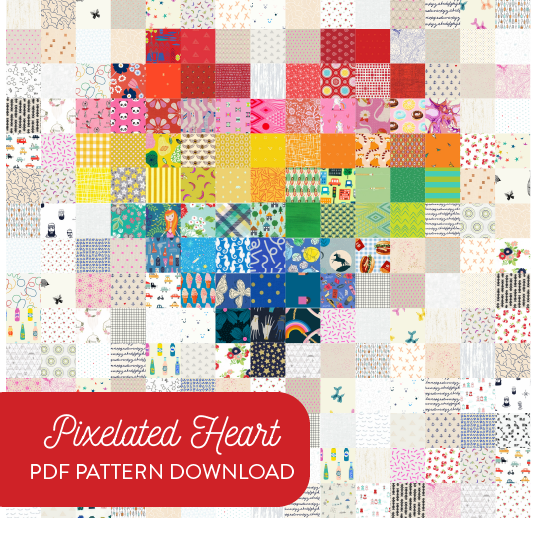 Pixelated Heart Pattern - PDF Download