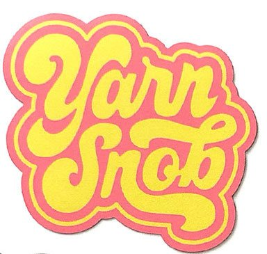 Yarn Snob Sticker