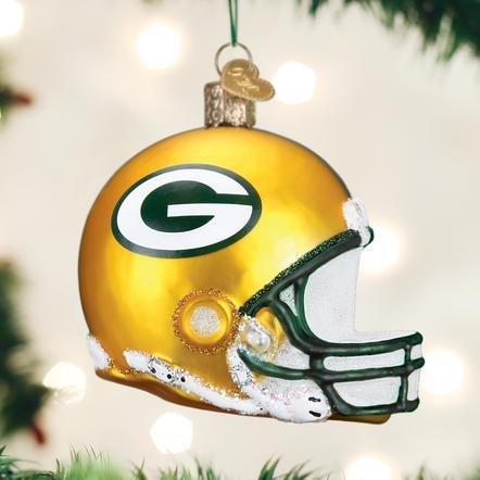 Old World Christmas Green Bay Packer Helmet Ornament