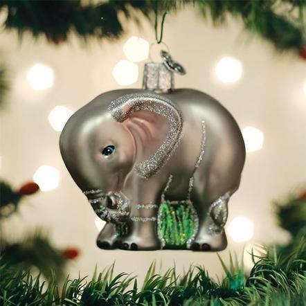 Old World Christmas Baby Elephant Ornament