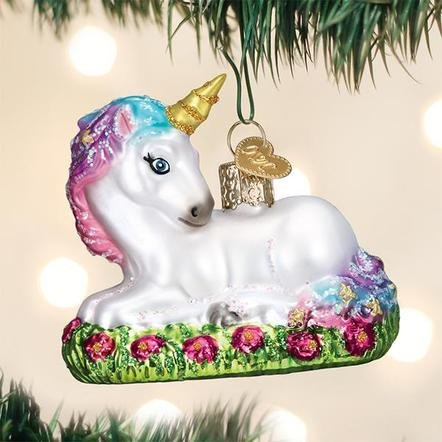 Old World Christmas Baby Unicorn Ornament