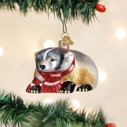 Old World Christmas Badger Ornament