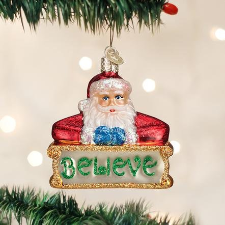 Old World Christmas Believe Santa Ornament