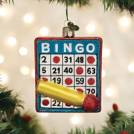 Old World Christmas Bingo Ornament