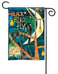 Breeze Art garden flag - Blackbird
