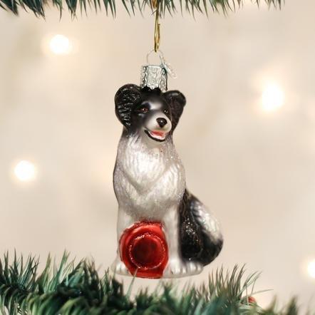 Old World Christmas Border Collie Ornament