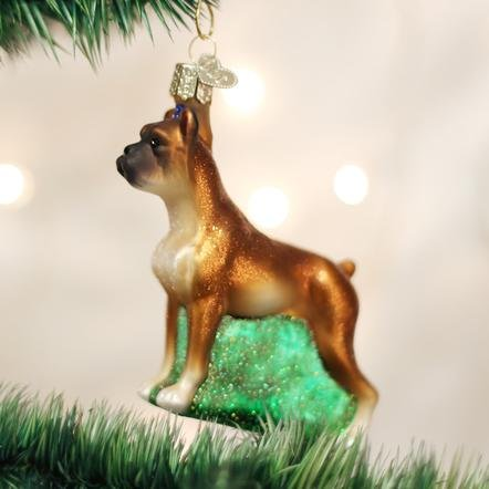 Old World Christmas Boxer Ornament