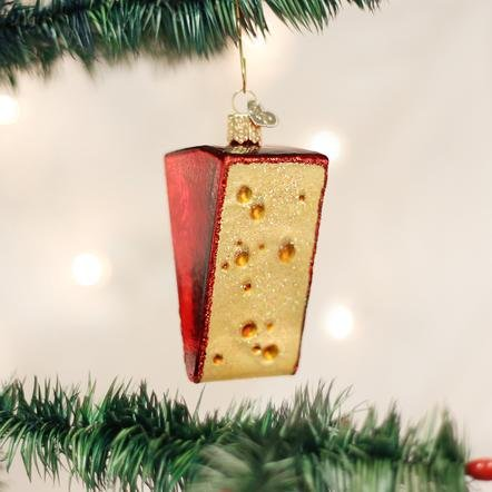 Old World Christmas Cheese Wedge Ornament