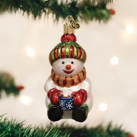 Old World Christmas Snowman With Cocoa  Ornament