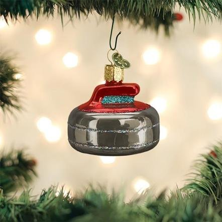 Old World Christmas Curling Stone Ornament