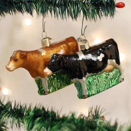 Old World Christmas Dairy Cow Ornament