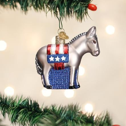Old World Christmas Democratic Donkey Ornament