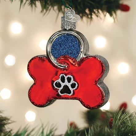 Old World Christmas Dog Tag Ornament