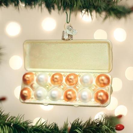 Old World Christmas Egg Carton Ornament