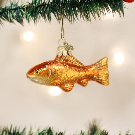 Old World Christmas Goldfish Ornament