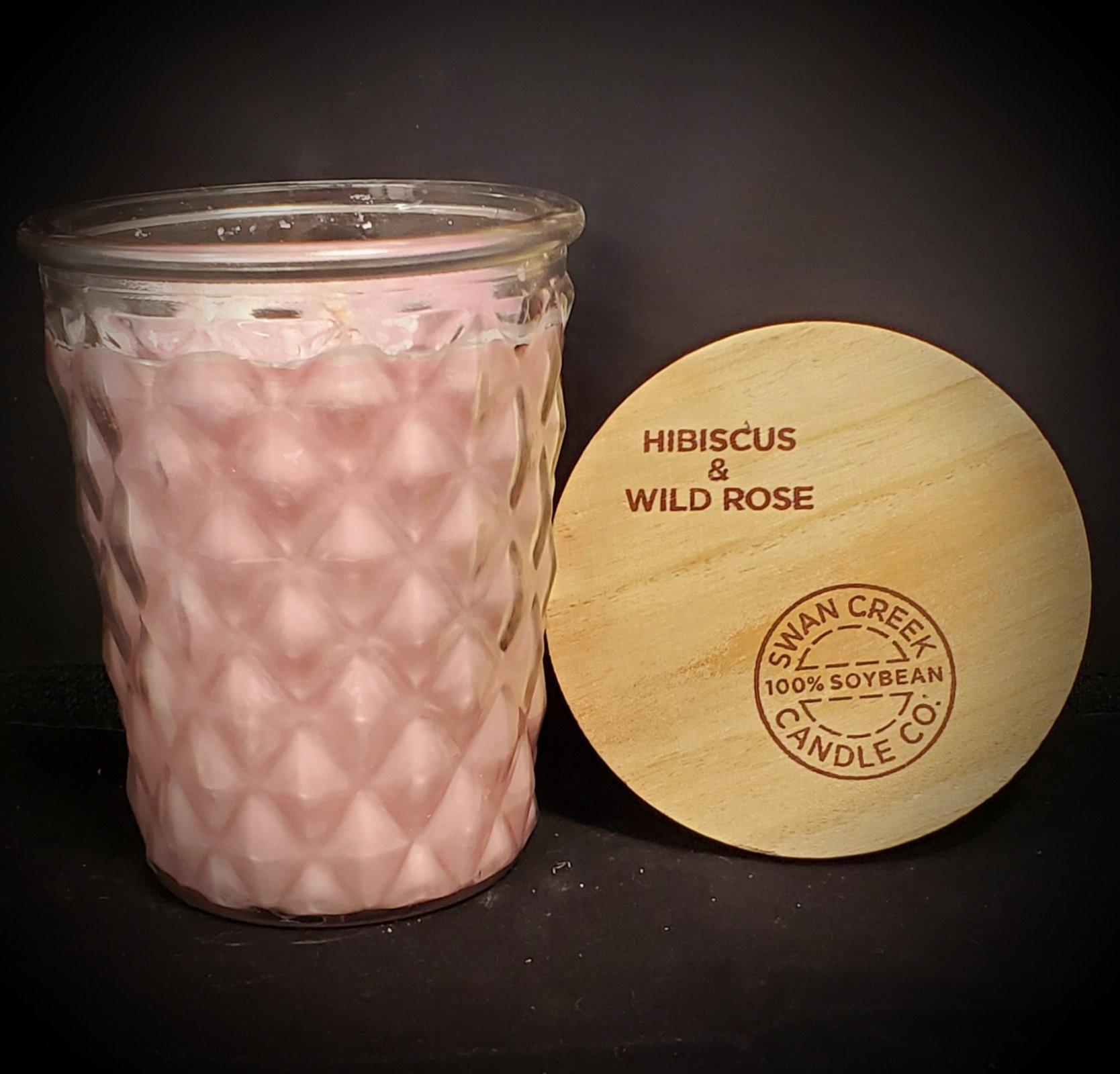 Swan Creek Candles Timeless Jar - Hibiscus & Wild Rose