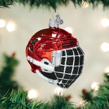 Old World Christmas Hockey Helmet Ornament