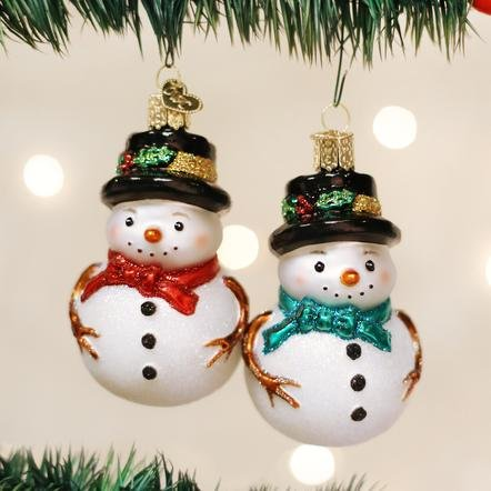 Old World Christmas Holly Hat Snowman  Ornament