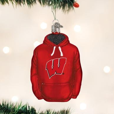 Old World Christmas Wisconsin Hoodie Ornament