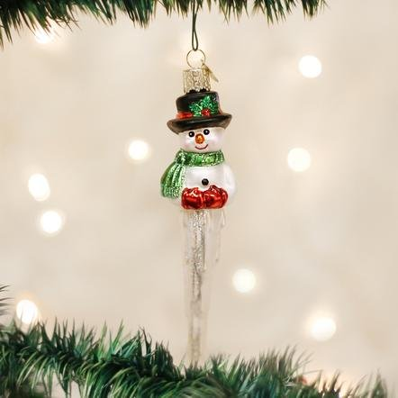 Old World Christmas Icicle Snowman Ornament