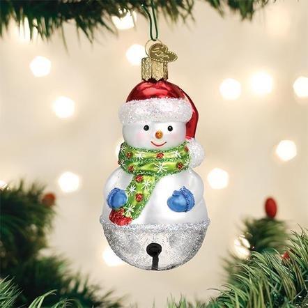 Old World Christmas Jingle Bell Snowman  Ornament