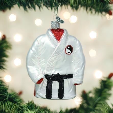 Old World Christmas Martial Arts Robe Ornament