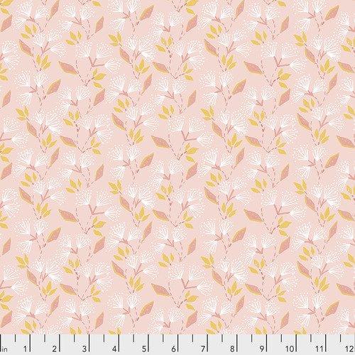 Ganesha Gardens Fabric - small floral pink