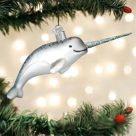 Old World Christmas Narwhal Ornament