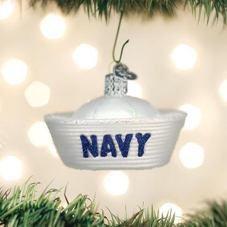 Old World Christmas Navy Cap Ornament