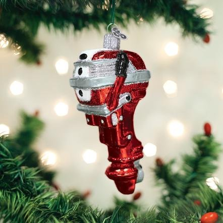 Old World Christmas Outboard Motor Ornament