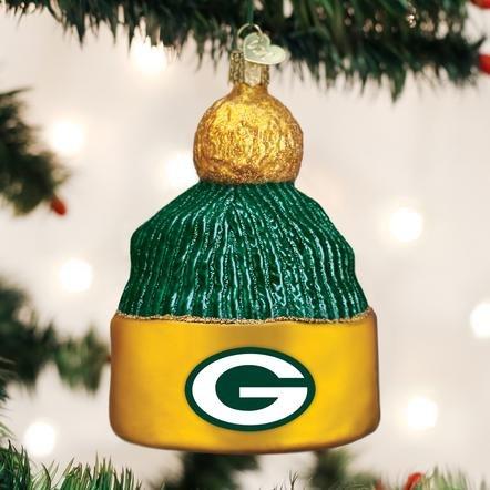 Old World Christmas Green Bay Packer Beanie Ornament