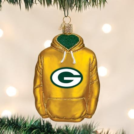 Old World Christmas Green Bay Packer Hoodie Ornament