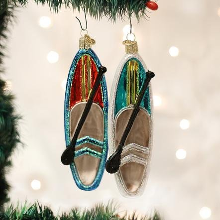 Old World Christmas Stand Up Paddle Board Ornament