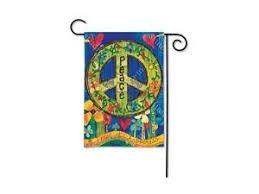 Breeze Art Garden Flag - Peace Everywhere