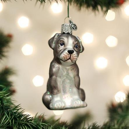 Old World Christmas Pitbull Pup Ornament