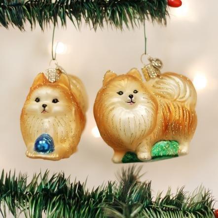 Old World Christmas Pomeranian Ornament