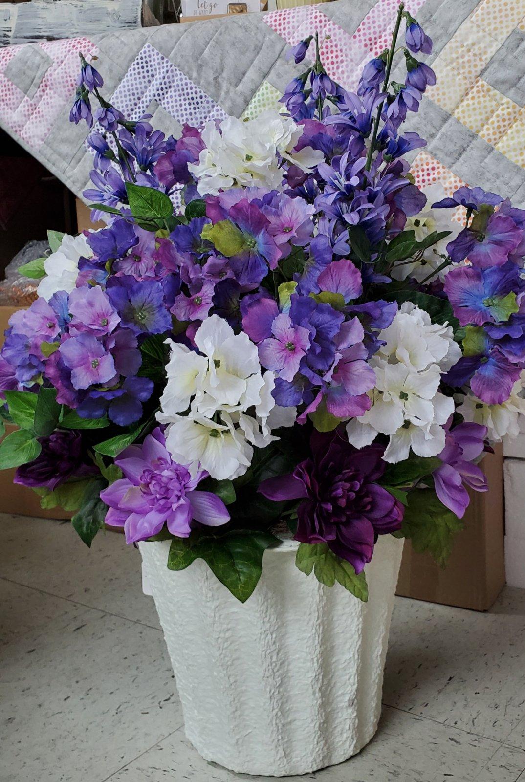 Memorial urn filler - purple